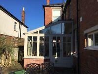 Beautiful hardwood, double glazed conservatory