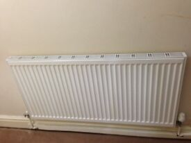Double panel white central heating radiator in excellent condition
