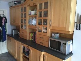 Solid Maple Shaker Kitchen and integrated appliances
