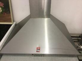 Stainless steel cooker hood 60cm wide, 50cm deep with lights and fan