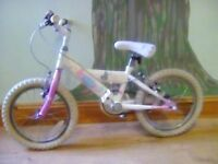 Two children's bikes for ages 5-7 years and 6-8 years approximately