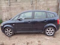 BREAKING --- Audi A2 SE 1.4L Petrol 74BHP ---- 2001
