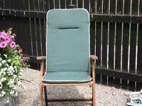 Garden Dining Chair Cushions x 6