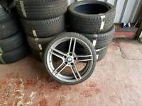BMW E90 E91 E92 E93 F30 313 M ALLOY MINT WHEEL WITH GOOD TYRE CAN POST ANYWHERE IN UK