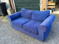 *REDUCED*Navy blue sofa bed - can deliver locally for £5 extra