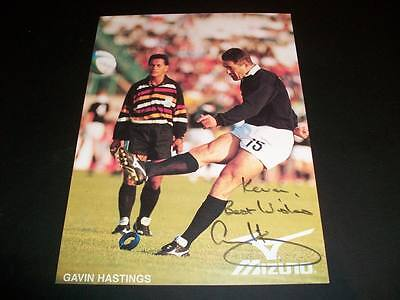 Gavin Hastings Scotland Rugby Autograph Signed Mizuno 4.5X6 Insert Card C