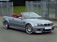 2005 55 E46 BMW M3 CONVERTIBLE FACELIFT – FSH - GREAT SPEC - LOW MILEAGE - MANUAL - RED LEATHERS -PX