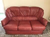 World of Leather 3 seater sofa with matching arm chair