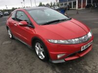 (58) Honda CIVIC 1.8 GT-Type S , mot - August 2019 , only 41,000 miles , service history,focus,astra