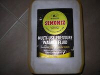 Pressure washer fluid. Multi-use Simonize, seven (7) available, sample in pic, £11 on line