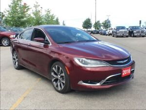 2016 Chrysler 200 C**LEATHER HEATED SEATS**PANNSUNROOF**NAVIGATI