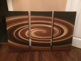 Canvas Picture Stunning Design in three sections