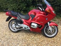 reluctant sale of my BMW R1150RT motorcycle full service history and very low mileage