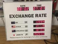 Digital exchange rate board
