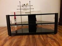 Large TV stand in BLACK colour in Excellent condition