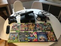 X Box 360 with Kinect and 10 Games