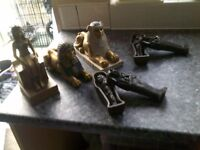 BARGAIN !! 5 EGYPTIAN FIGARINES £20 THE LOT !