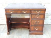Brown stylish leather top desk (Delivery)