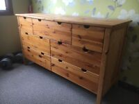 Large chest of drawers (pine)