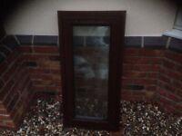 double glaze window 39 x 20 inches teak effect with handle