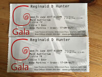 Reginald D Hunter 2 tickets Gala Theatre Durham 14/06 Circle T8 & T9 Now unable to attend