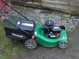 qual cast rotary petrol mower