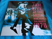 THE JAM - LIVE AT THE MUSIC MACHINE - MARCH 2ND 1978 - DOUBLE VINYL ALBUM - BRAND NEW