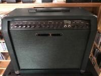 Trace Elliott Super Tramp 80w RMS twin channel 1 x 12 guitar amp combo. Footswitch. Excellent cond