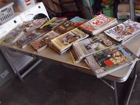 Approx 100 motor cycle magazines 1970s to present day also about 30 motor car etc mags.
