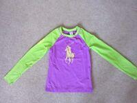 Girls Age 8-10 Ralph Lauren Raglan Sleeve Rashguard