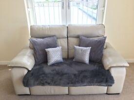 Ivory recliner sofa