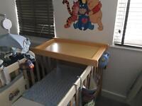 Kiddicare cot changing table basically new.