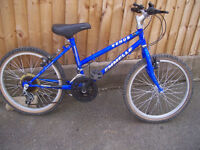 Emmelli Venus childs bike approx age 7 to 9 years.