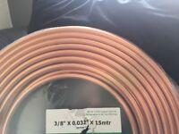 "Copper tube for air con & refrigeration 3/8"" x 0.032""x15mtr"