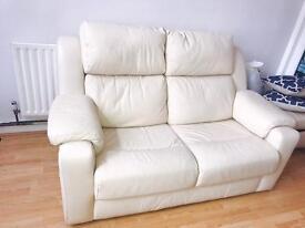 Real leather 2 seat sofa