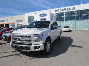 2016 Ford F-150 PLATINUM 4X4 5.0L V8 TWIN PANEL MOONROOF