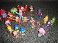 Kids TV character figures, Teletubbies, Peter Rabbit, In the night garden, Bob the builder