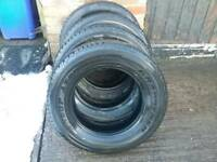 4x Dunlop grandtrek At20 4x4 tyres 225 70 17 near new