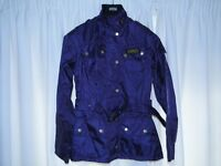 Unworn Barbour Rainbow International bright brass woman's jacket size 8 in Mulberry