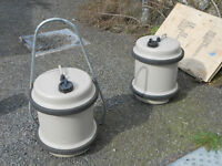 Caravan roll along water tanks