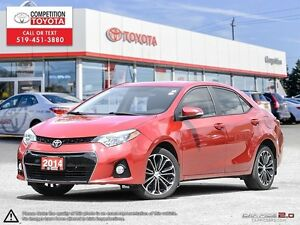 2014 Toyota Corolla S One Owner
