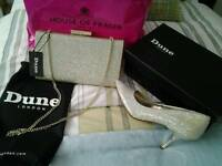 Brand new dune bag and shoes bargain reduced