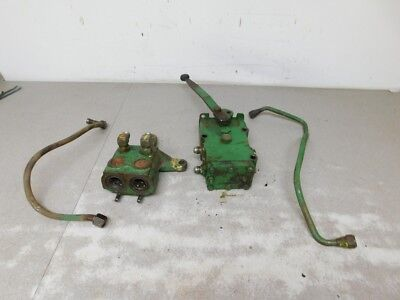 John Deere Late 2240 Tractor Dual Hydraulic Assembly Ar86535 Ar39037 11079