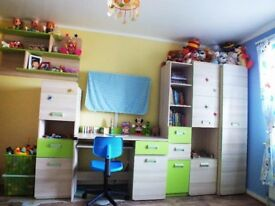 Kids furniture set plus single bed