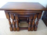 Old Charm Light Oak Nest Of Tables