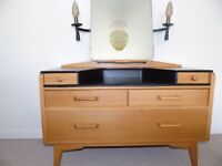 A BEAUTIFUL EXAMPLE OF A RETRO G-PLAN (E.GOMME) DRESSING TABLE WITH LIGHTS