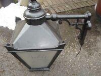Pub lantern, large, black