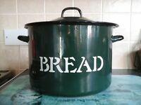 round green bread bin.