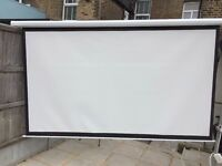 Electric Wired Remote Controlled Screen Projector 240cm Wide 16:9