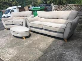 3+2 seater sofas and stool